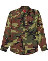 Supreme - Silk Camo Shirt - Lyst