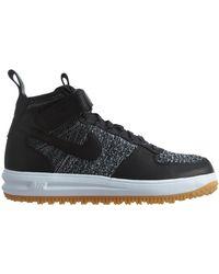 Nike Lunar Force 1 Flyknit Workboot - Black