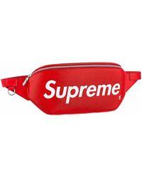 Supreme Louis Vuitton X Bumbag Epi Red