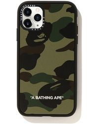 A Bathing Ape Casetify 1st Camo Iphone 11 Pro Case - Green