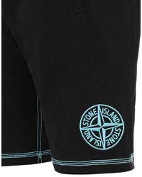 Stone Island Fleece Bermuda Shorts Pink Quartz Cotton - Black