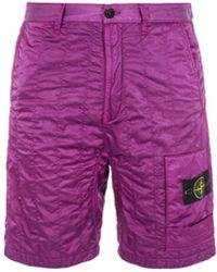 Stone Island L0121 NYLON RASO QUILTED-TC_COUPE CONFORTABLE - Violet