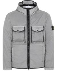 93b189e67a142 Stone Island Cargo Pocket Flock Vest in Green for Men - Lyst
