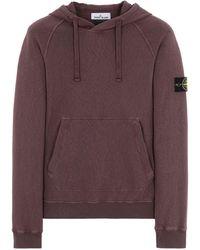 Stone Island Sweatshirt Olivgrün Baumwolle - Lila