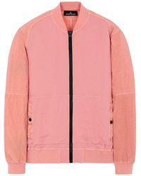 Stone Island Shadow Project 60107 COMPACT BOMBER JACKET - Pink