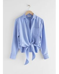 & Other Stories - Relaxed Front Tie Top - Lyst