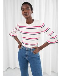 & Other Stories - Bell Sleeve Knit Top - Lyst