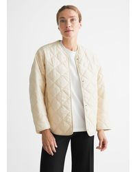& Other Stories Oversized Quilted Jacket - Natural