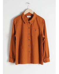 & Other Stories - Cotton Twill Workwear Shirt - Lyst