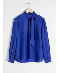 & Other Stories - Straight Fit Pussy Bow Blouse - Lyst