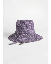 & Other Stories - Reversible Paisley Print Bucket Hat - Lyst