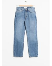 & Other Stories - Straight Fit Light Wash Jeans - Lyst