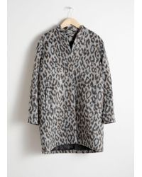 & Other Stories - Wool Blend Boxy Coat - Lyst