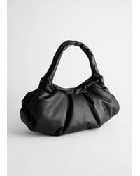 & Other Stories Gathered Leather Bag - Black