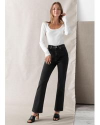 & Other Stories - Crush Cut Cropped Jeans - Lyst