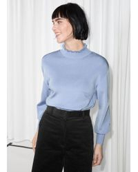 & Other Stories - Frill Mock Neck Top - Lyst