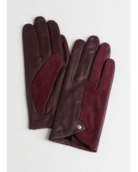 & Other Stories - Duo Leather Suede Gloves - Lyst