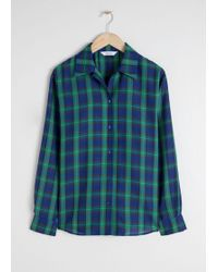 & Other Stories - Wool Blend Plaid Shirt - Lyst