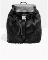 & Other Stories - Faux Fur Backpack - Lyst