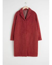 & Other Stories - Wool Blend Long Coat - Lyst