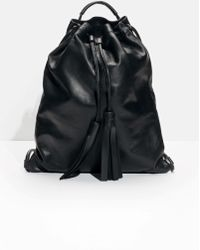 & Other Stories - Tasseled Leather Backpack - Lyst