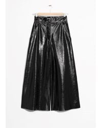 & Other Stories | Patent Leather Culottes | Lyst