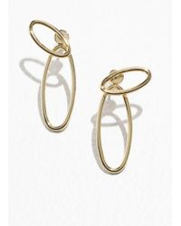 & Other Stories - Oval Ring Dangle Earrings - Lyst