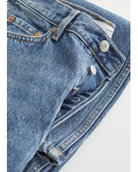 & Other Stories Keeper Cut Jeans - Blue