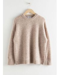 & Other Stories Oversized Alpaca Blend Relaxed Jumper - Brown