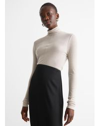 & Other Stories Turtleneck Wool Top - Natural