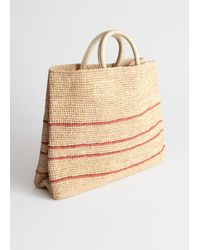 & Other Stories Large Woven Straw Tote - Natural