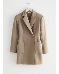 & Other Stories Hourglass Blazer Mini Dress - Brown