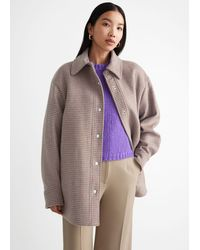 & Other Stories Oversized Shirt Jacket - Natural