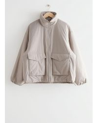 & Other Stories - Boxy Padded High Collar Jacket - Lyst