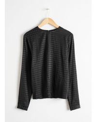 & Other Stories - Houndstooth Top - Lyst
