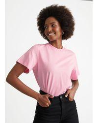 & Other Stories Boxy Crewneck T-shirt - Pink