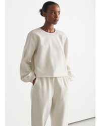 & Other Stories Kastenförmiger Jersey-Pullover - Natur