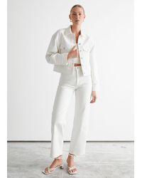 & Other Stories Button Up Denim Jacket - White