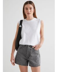 & Other Stories Forever Cut Jeans Shorts - Gray