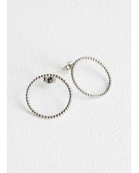 & Other Stories - Circle Stud Hoop Earrings - Lyst