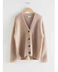 & Other Stories Oversized Alpaca Blend Cardigan - Natural