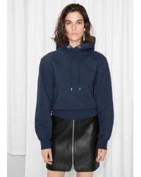 & Other Stories Shoulder Pad Sweatshirt - Blue