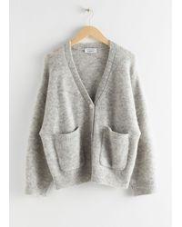 & Other Stories Alpaca Wool Blend Cardigan - Brown