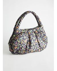 & Other Stories Floral Nylon Padded Bag - Green