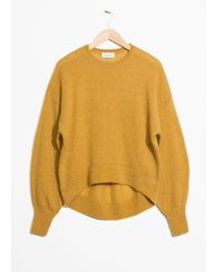 & Other Stories Mohair Jumper - Yellow