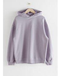 & Other Stories Oversized Hooded Boxy Sweatshirt - Purple