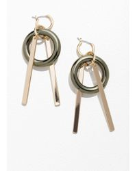 & Other Stories - Circle Bar Earrings - Lyst
