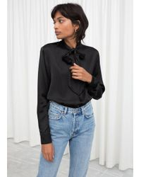 & Other Stories - Satin Pussy Bow Blouse - Lyst