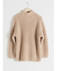 & Other Stories Oversized Alpaca Blend Sweater - Natural