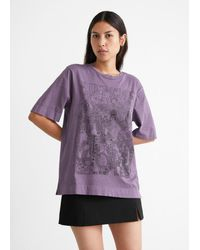 & Other Stories Relaxed Crewneck T-shirt - Purple